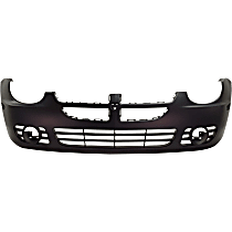 Front Bumper Cover, Primed - Exc. SRT-4 Model, w/o Parking Aid Snsr Holes, w/ FL Holes, w/ Emblem Hole and Side Marker Holes