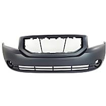 Front Bumper Cover, Primed - Except SRT-4 Model, Without Park Sensor Holes, With Fog Light Holes