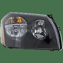 Passenger Side Headlight, With bulb(s) - Clear Lens, Black Interior