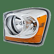 Driver Side Headlight, With bulb(s) - Clear Lens, Chrome Interior