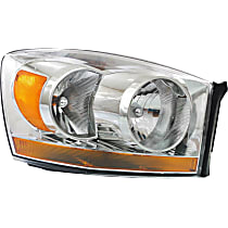 Passenger Side Headlight, With bulb(s) - Chrome Interior