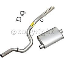 17345 Super Turbo Series - 1997-2000 Jeep Wrangler (TJ) Cat-Back Exhaust System - Made of Aluminized Steel