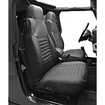 Bestop Jeep Custom Tailored Front Row Seat Cover - Black Denim (Mfr. Color), Custom Fit