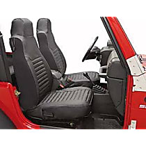 29228-35 Jeep Custom Tailored Series Front Row Seat Cover - Black Diamond (Mfr. Color), Custom Fit