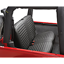 Bestop Jeep Custom Tailored Second Row Seat Cover - Black Denim (Mfr. Color), Custom Fit