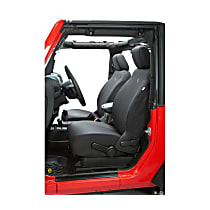 29280-35 Bestop Jeep JK Custom Tailored Front Row Seat Cover - Black Diamond (Mfr. Color), Custom Fit
