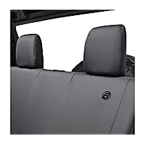 29282-35 Bestop Jeep JK Custom Tailored Second Row Seat Cover - Black Diamond (Mfr. Color), Custom Fit