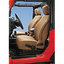 29283-04 Bestop Jeep JK Custom Tailored Front Row Seat Cover - Tan, Custom Fit