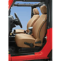 Bestop Jeep JK Custom Tailored Front Row Seat Cover - Tan, Custom Fit