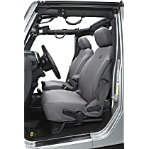 29283-09 Bestop Jeep JK Custom Tailored Front Row Seat Cover - Charcoal (Mfr. Color), Custom Fit
