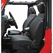 29283-35 Bestop Jeep JK Custom Tailored Front Row Seat Cover - Black Diamond (Mfr. Color), Custom Fit