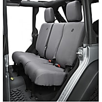 Bestop Jeep JK Custom Tailored Second Row Seat Cover - Charcoal (Mfr. Color), Custom Fit