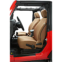 Bestop Jeep JL Custom Tailored Front Row Seat Cover - Tan, Custom Fit