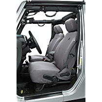 Bestop Jeep JL Custom Tailored Front Row Seat Cover - Charcoal (Mfr. Color), Custom Fit