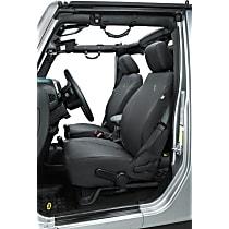 29290-35 Bestop Jeep JL Custom Tailored Front Row Seat Cover - Black Diamond (Mfr. Color), Custom Fit