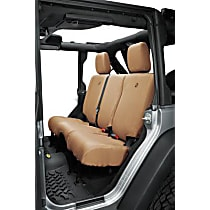 Bestop Jeep JL Custom Tailored Second Row Seat Cover - Tan, Custom Fit
