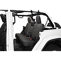 Bestop Jeep JL Custom Tailored Second Row Seat Cover - Black Diamond (Mfr. Color), Custom Fit