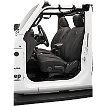 Bestop Jeep JL Custom Tailored Front Row Seat Cover - Black Diamond (Mfr. Color), Custom Fit