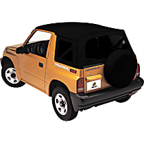 51366-01 Replace-A-Top Series Black Dual-layer poly-cotton vinyl Soft Top - Without Frame (Requires Factory Frame)