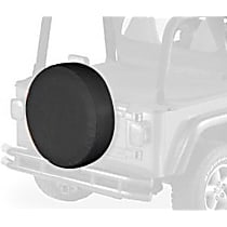 Bestop 61031-35 Tire Cover - Black diamond, Vinyl Coated Polyester and Cotton, Universal, Sold individually