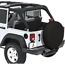 Bestop 61032-35 Tire Cover - Black diamond, Vinyl Coated Polyester and Cotton, Direct Fit, Sold individually