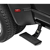 Side Steps - Powdercoated Black, Aluminum, Side Mount, Direct Fit, Sold individually