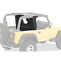 Bestop 80035-35 Wind Screen - Black diamond, Dual-layer poly-cotton vinyl, Direct Fit, Sold individually