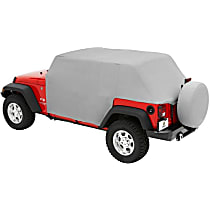 Bestop 81035-09 Truck Cab Top Cover - Charcoal, Haartz fabric, Direct Fit, Sold individually