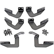 Dee Zee DZ16365 Running Board Mounting Kit - Powdercoated Textured Black, Steel, Direct Fit, Kit