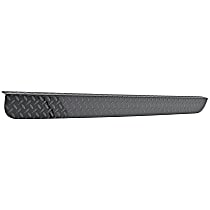 DZ2138B Tailgate Protector - Black diamond plate, Aluminum, Direct Fit, Sold individually