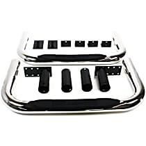 DZ3700303 Nerf Bars Polished Nerf Bars, Covers Cab Length - Set of 2 - Universal Nerf Bars