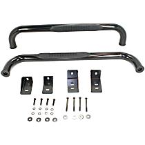 DZ370111 Ultrablack Series Powdercoated Black Nerf Bars, Covers Cab Length - Set of 2