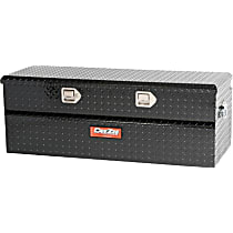 DZ8537B Truck Tool Box - Powdercoated Black Diamond Plate, Aluminum, Low Profile, Direct Fit, Sold individually