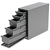 Truck Tool Box - Powdercoated Black, Steel, Drawer, Direct Fit, Sold individually