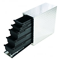 Dee Zee DZ95DA Truck Tool Box - Diamond brite, Aluminum, Drawer, Direct Fit, Sold individually