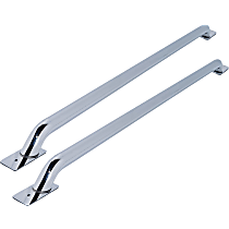 Dee Zee DZ99610 Bed Rails - Polished, Stainless Steel, Direct Fit, Set of 2