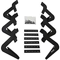 Dee Zee DZ15327 Running Board Mounting Kit - Powdercoated Textured Black, Steel, Direct Fit, Kit