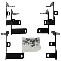 Dee Zee DZ16327 Running Board Mounting Kit - Powdercoated Textured Black, Steel, Direct Fit, Kit