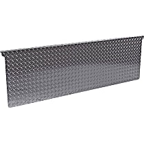 DZ4122B Tailgate Protector - Black diamond plate, Aluminum, Direct Fit, Sold individually