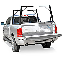 DZ951550 Truck Bed Rack - Powdercoated Textured Black, Aluminum, Direct Fit, Set of 2