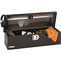 Dee Zee M206 Truck Tool Box - Powdercoated Black Diamond Plate, Aluminum, ATV Storage Chest, Direct Fit, Sold individually
