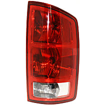 Passenger Side Tail Light, With bulb(s) - Clear & Red Lens, w/ Circuit Board