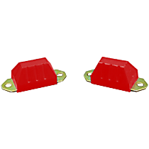 1-1301 Front or Rear Bump Stop - Red, Polyurethane, Direct Fit, Set of 2
