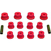 17-1001 Leaf Spring Bushing - Red, Polyurethane, Direct Fit, Kit