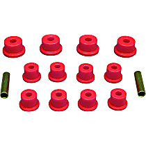 Prothane 17-1001 Leaf Spring Bushing - Red, Polyurethane, Direct Fit, Kit