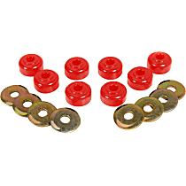 Prothane 19-430 Sway Bar Link Bushing - Red, Polyurethane, Universal, Set of 8