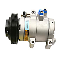 CS20077 A/C Compressor Sold individually With clutch, 6-Groove Pulley