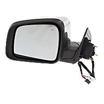 Mirror - Driver Side, Power, Heated, Folding, Chrome, With Turn Signal and Memory