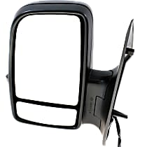 Mirror Manual Folding Heated - Driver Side, Power Glass, In-housing Signal Light, With Blind Spot Corner Glass, Textured Black