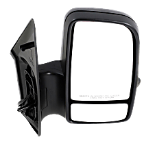 Mirror Manual Folding Heated - Passenger Side, Power Glass, In-housing Signal Light, With Blind Spot Corner Glass, Textured Black